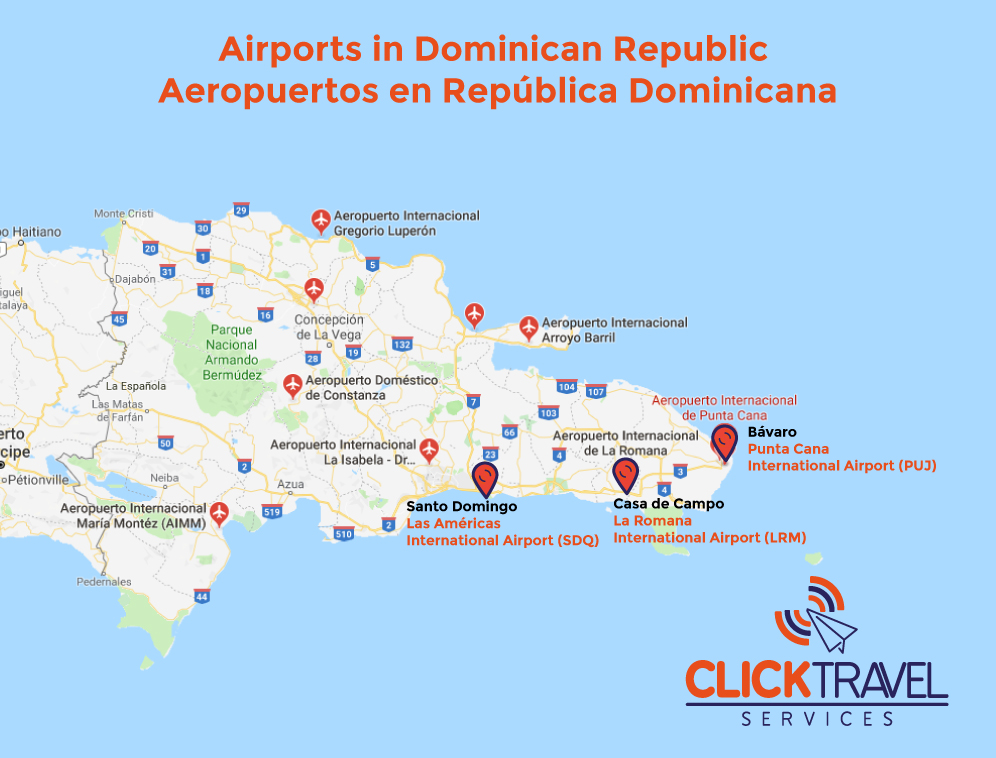 Airports in Dominican Republic | Click Travel Services